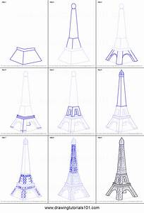 How To Draw Mini Eiffel Tower Printable Step By Step