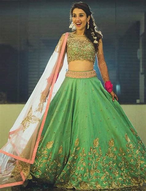 3 4 sleeve embroidered top 20 lehenga choli designs for teenagers