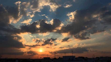 sky clouds  sun timelapse youtube