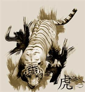 Tiger Chinese style by ayqutx on DeviantArt