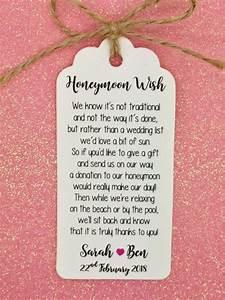 wedding honeymoon fund money request poem card favour With wedding gift website money