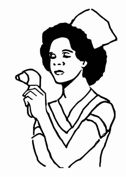 Enfermera Colorear Dibujo Descargar Grandes Imagenes