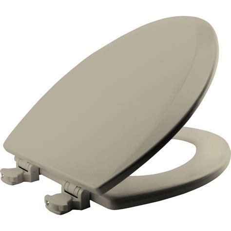 BEMIS Lift-Off Elongated Closed Front Toilet Seat in Bone ...