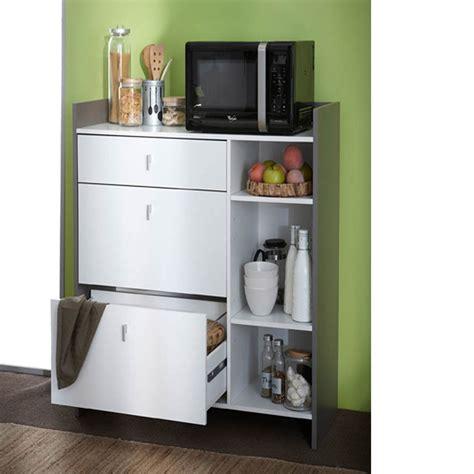 auchan meuble cuisine desserte 3 tiroirs et 3 niches blanche battery dya shopping fr
