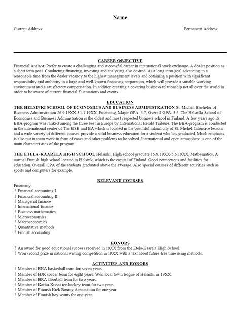 sample resume template cover letter  resume