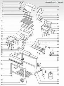 34 Weber Genesis Silver Parts Diagram