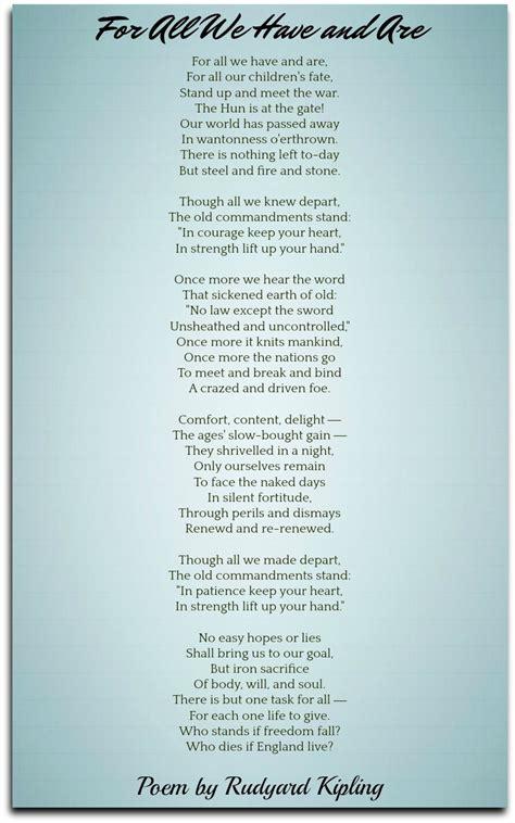 rudyard kipling poems classic famous poetry