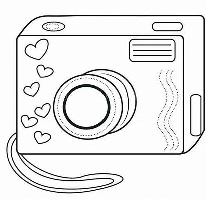 Camera Coloring Toys Pages Cartoon Sheets