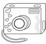 Camera Coloring Pages Toys Template Wait sketch template