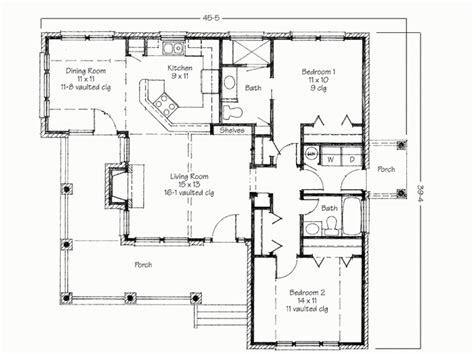 2 Bedroom House Simple Plan Two Bedroom House Simple Floor