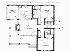 Two bedroom house simple floor plans house plans 2 bedroom for Simple house plan with 1 bedrooms