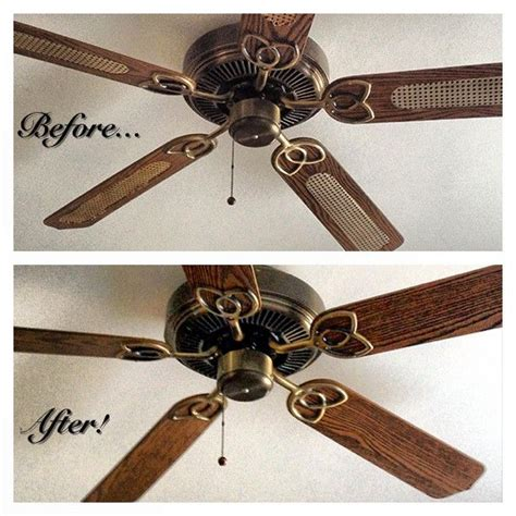 painting ceiling fan blades rev an old ceiling fan just flip the blades you can