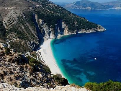 Myrtos Beaches Grecia Greece Most Spiagge Perdere