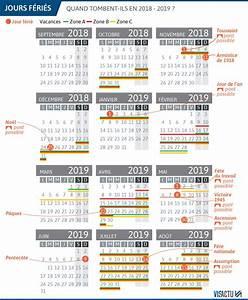 Jour De Paques 2018 : infographie voici le calendrier des vacances scolaires 2018 2019 nice matin ~ Dallasstarsshop.com Idées de Décoration
