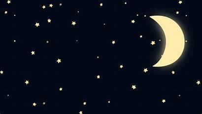 Moon Stars Animated Cartoon Crescent Transparent Starry