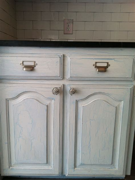 Crackle Finished Cabinets  For The Home  Pinterest