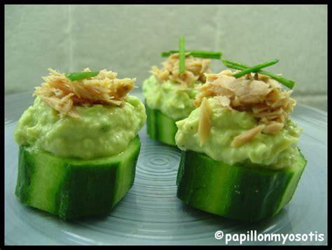 cuisine concombre bouchees aperitives de concombre et avocat la cuisine du