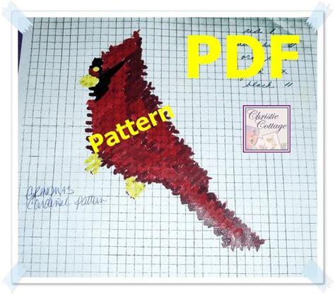 cardinal needlepoint plastic canvas pattern