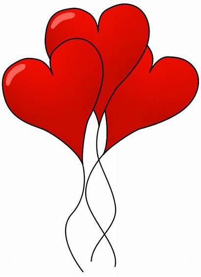 Balloons Heart Hearts Shaped Clip Valentine Illustration