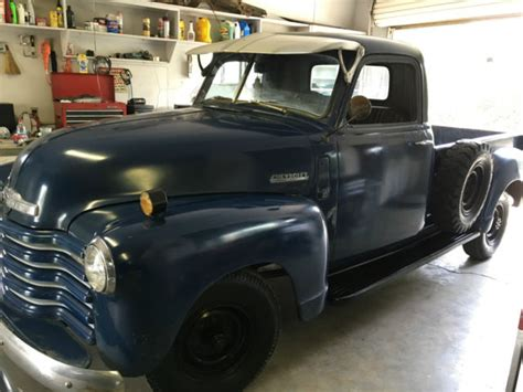 5hrg8663 patina rare 1950 chevy 3600 truck original not ford gmc 3100 rat rod