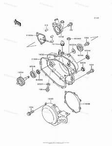 Kawasaki Motorcycle 1996 Oem Parts Diagram For Engine Cover S