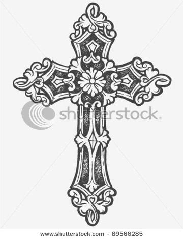 Hand drawn Cross tat | Tattoos I like | Pinterest | Hand drawn and Tatting