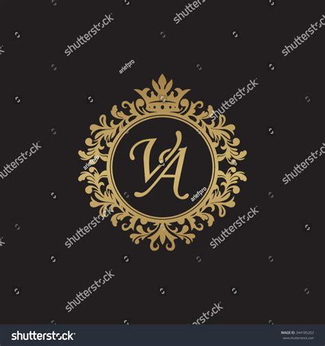 va initial luxury ornament monogram logo stock vector 344185202