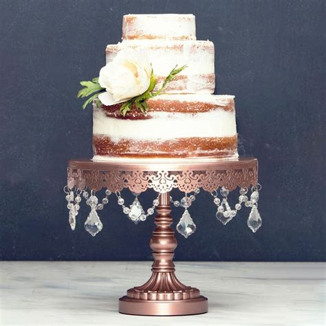 cake stand metal crystal wedding display birthday