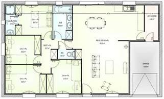 Plan Maison Plain Pied 4 Chambres Avec Suite Parentale by Plan Maison Plain Pied 4 Chambres