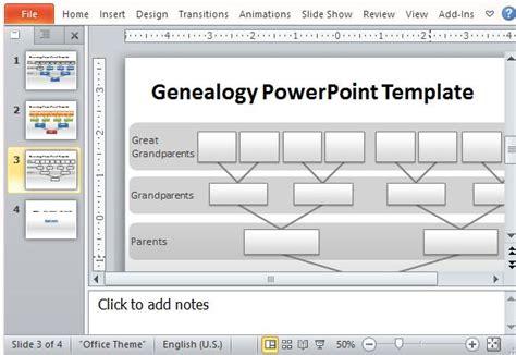 Powerpoint Genealogy Template by Genealogy Tree Powerpoint Template