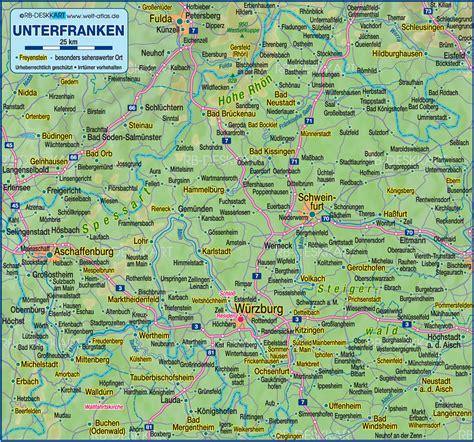 map   franconia region  germany bavaria welt