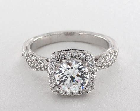 verragio classic engagement ring  white gold