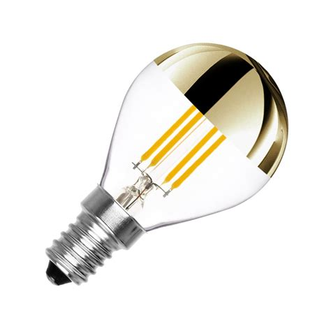 lada led r7s oule led e14 dimmable filament gold reflect g45 3 5w