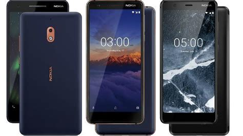 nokia 2 1 nokia 5 1 and 3gb nokia 3 1 launched in india starting at rs 6 999 technology news
