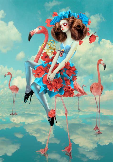 whimsical digital portraits  natalie shau  dna life