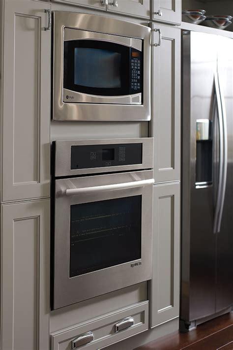 wall built  microwave cabinet homecrest