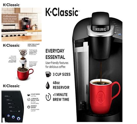 Simple touch buttons make your brewing experience stress free, and multiple. NEW Keurig K55/K-Classic Coffee Maker, K-Cup Pod, Single Serve, Programmable, #Keurig   Classic ...