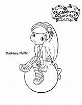 Coloring Blueberry Shortcake Strawberry Muffin Cartoon Printable Bestcoloringpagesforkids Blueberries sketch template