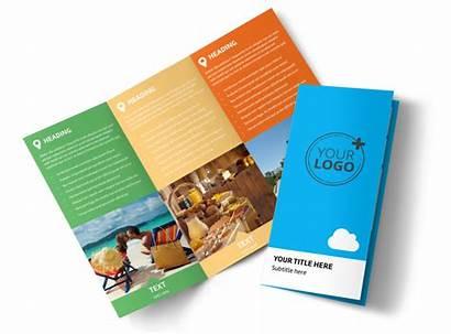 Brochure Travel Package Air Template Fold Tri