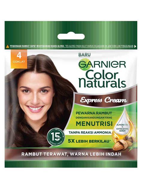 color naturals express cream  coklat pewarna rambut alami