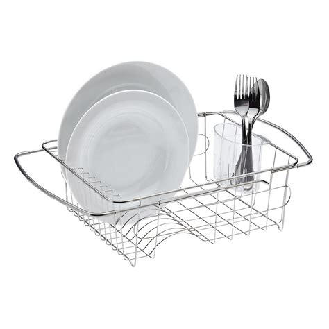 stainless steel  sink dish drainer  container store