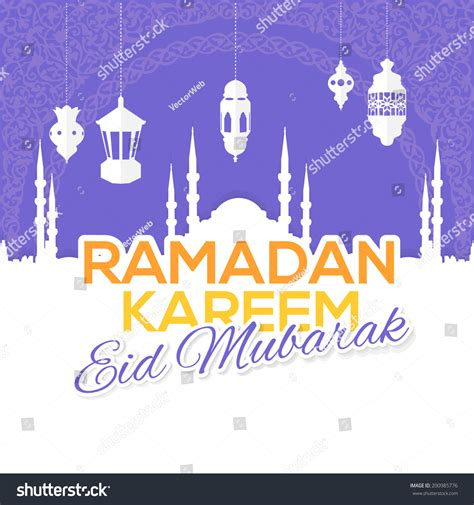 ramadan kareem islamic holy nights theme stock vector