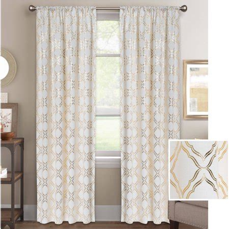 gold metallic curtains better homes and gardens metallic trellis gold or silver