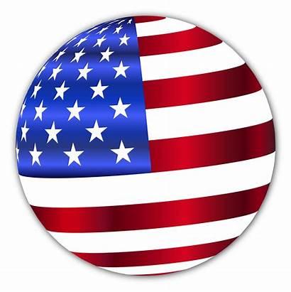 Flag Clipart Usa Clip American Sphere Shadow