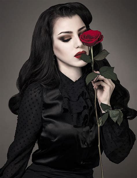 lady rose girl goth picture photography