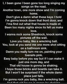 Eric church- like a wrecking ball #lyrics #country #rock ...