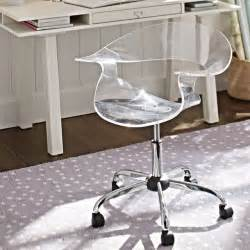 acrylic swivel chair modern office chairs by pbteen