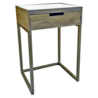 accent tables events inventory marble gold one drawer accent table threshold