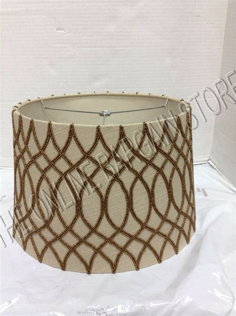 Pottery Barn L Shade by Pottery Barn Tapered Drum Beaded L Light Shade