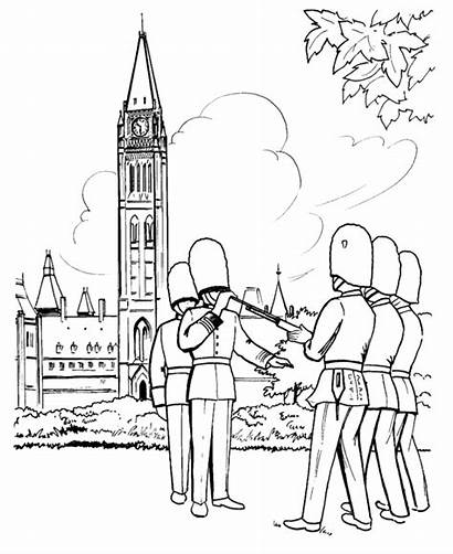 Coloring Pages Canada British Parliament Guard Sheets